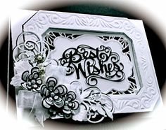 Cards by America: Best Wishes CARD and NEWLY launched Creative Expressions Dies by Sue Wilson