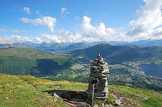 Cairn on summit Vallahornet - Ørsta, Norway
