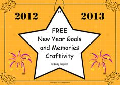 "FREE LESSON - ""New Year Goals and Memories Craftivity (Freebie)"" - Go to The Best of Teacher Entrepreneurs for this and hundreds of free lessons.  #FreeLesson   #TeachersPayTeachers   #TPT   #NewYear    http://thebestofteacherentrepreneurs.blogspot.com/2012/12/free-misc-lesson-new-year-goals-and.html"