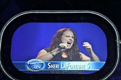 "Sheri LaFontaine at the ""Mock"" American Idol at Disney World in Florida. She won the gold ticket to Hollywood. ""It was something I did, just for fun and was honored to win"", she said. ""But I know that God has called me to sing Christian music alone""."