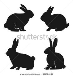 Bunny Silhouette Stock Photos, Images, & Pictures | Shutterstock