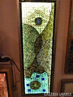 "Piszkátor Ildikó:""Forma-tánc"" üvegmozaik kép Lamps, Glasses, Artist, Design, Lightbulbs, Eye Glasses, Eyeglasses, Design Comics, Light Fixtures"