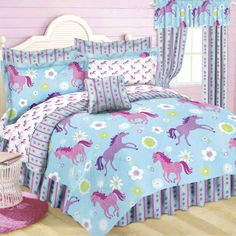 girls pony horse bedroom ideas   Best Horse Gifts: NEW! Dream Ponies Bed in a Bag