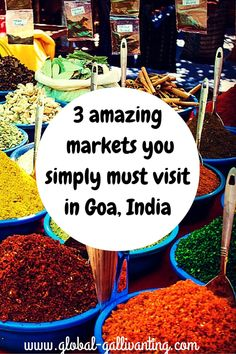 Goa has much more to offer than just tropical beaches. Shopping and haggling at Goa's colourful markets is a must. Here are 3 of the best markets in Goa. Goa Travel, Paris Travel, Travel Tips, Travel Goals, Travel Guides, Ireland Vacation, Ireland Travel, Galway Ireland, Cork Ireland