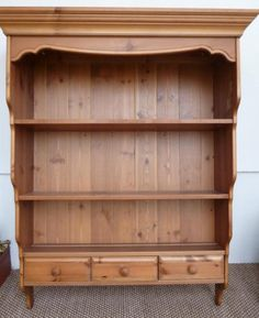 Antique pine wall hung dresser- This would go lovely in my fantasy farmstyle kitchen Kitchen Wall Units, Kitchen Storage, Used Stuff For Sale, Pine Walls, Home Renovation, Furniture Makeover, Shelving, Kitchen Remodel, Dresser