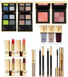 Maquiagem Yves Saint Laurent Fall 2013!
