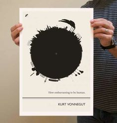 New York-based illustrator Evan Robertson has a great series of posters on his Etsy shop featuring illustrated interpretations of famous quotes by literary legends. Poster Series, Poster On, Quote Posters, Kurt Vonnegut Quotes, Famous Author Quotes, Favorite Book Quotes, Collage, Literary Quotes, Beautiful Posters