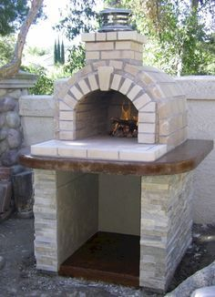 One of the most popular DIY Wood Fired Ovens on the internet... This Tan Fire Brick oven was built using the Mattone Barile DIY Wood Fired Pizza Oven Form by BrickWoodOvens.com