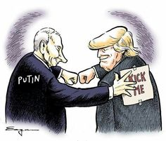 Trump is being played like a fiddle by Putin who's been on the world stage of politics for far longer than Trump, and who's KGB training taught him how to masterfully manipulate someone like Trump. Of course with Trump all you have to do is play to his vanity, which Putin has already begun doing.