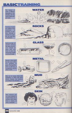 Scan from Wizard Magazine 148. Basic Training: Part 6 of 6 Joe Kubert shows how to do textures. p106