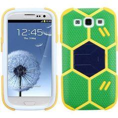MYBAT FIFA World Cup 2014 Hybrid Case for Galaxy S3 III - Green/Beige