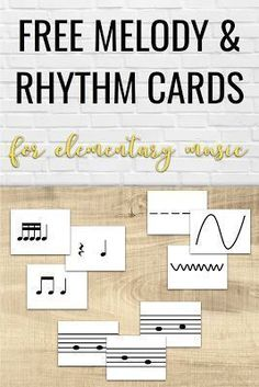 Free printable melody and rhythm cards to use during instrument exploration day. Fantastic ideas for having elementary music students explore new instruments in the music classroom! Elementary Music Lessons, Singing Lessons, Piano Lessons, Singing Tips, Elementary Schools, Elementary Teaching, Musica Love, Music Education Activities, Orff Activities