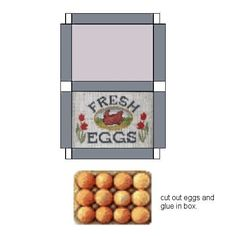Miniature Printables - Carton of eggs - barbie box printables Paper Doll House, Doll House Crafts, Doll Crafts, Barbie Box, Barbie House, Diy Doll Miniatures, Doll Food, Miniature Crafts, Miniature Food