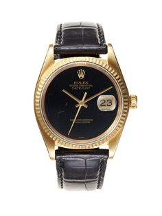 Rolex Yellow Gold Oyster Perpetual Datejust (c. 1980) by Vintage Watches on Gilt.com