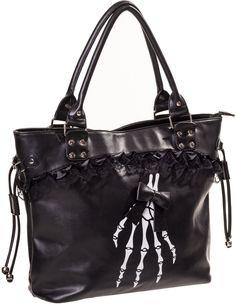 skeleton handbag calaveras gothic Renegades De Banned gotico Bolso esqueleto qtIpFx
