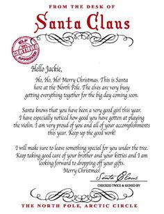 letter from santa santa claus instant Letter From Santa Template - √ 30 Letter From Santa Template , Free Personalised Santa Letter Free Printable Santa Letters, Free Letters From Santa, Personalized Letters From Santa, Santa Letter Template, Letter Templates Free, Diy Letters, Cool Lettering, Types Of Lettering, Happy New Year