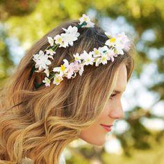 DIY Floral Headband - festival or wedding style