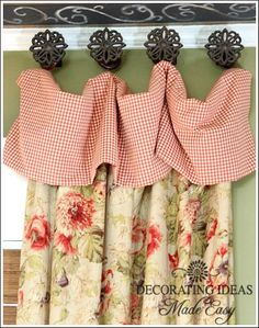 window treatment ideas, home decor, window treatments, windows, I love mixing different fabrics it makes a room so cozy