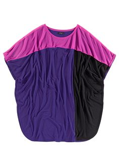 Oversize slouch top purple/black/fuchsia - Women - RAINBOW - bonprix.co.uk