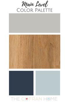 flur farbe Our New Home Color Palette - The Cofran Home Office Color Schemes, Home Office Colors, Paint Color Schemes, Living Room Color Schemes, House Color Schemes Interior, Navy Color Schemes, Decorating Color Schemes, Playroom Color Scheme, Color Palette Blue