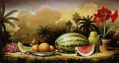 surreal caricatures love - Căutare Google Sweet Watermelon, One Color, Surrealism, Medieval, Sketches, Illustration, Image, Caricatures, Paintings