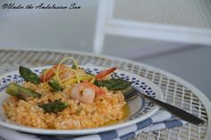 Summer on a plate: lemony risotto with asparagus and prawns
