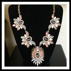 """Sparkling Gemstone Necklace Sparkling Gemstone Necklace w Gold Tone 21"""" Chain + 3"""" Extender.  PRICE FIRM! NWT/Retail! Trades!  10% OFF Bundles!  5/10% Seller! ✈️Fast Shipping!   See LOVE Notes! FROSTING Jewelry Necklaces"""