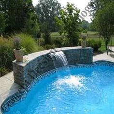 Swimming Pool With Water Cascade