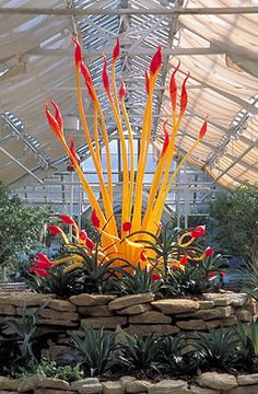 "DALE CHIHULY: TORCHIER, 2003  ""CHIHULY AT THE CONSERVATORY""  FRANKLIN PARK CONSERVATORY  COLUMBUS, OHIO"