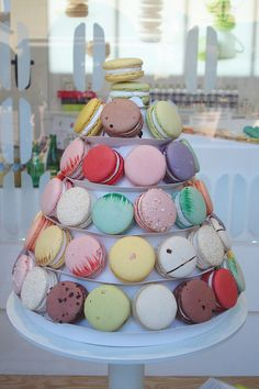 Lette Macarons LA by such pretty things, via Flickr. Love almond wedding cake, cafe, pistachio. New location in Newport Beach Fashion Island. It's not Laduree Paris but very good!!