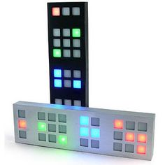 TIX LED Clock. Yes, it's a clock - the LED lights indicate the time (12:34 is displayed in the image). Very cool for your office or a gift for someone who loves gadgets. Only $39.99 at thinkgeek.com