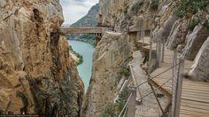 Primera parte del caminito del Rey El caminito del rey desde Málaga y en tren #Rutas #Paisajes #Trekking