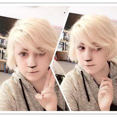 I really really love those white deer  #cosplay #makeup #cosplaymakeup #selca #deermakeup #me #aesthetics #aesthetic #lgbt