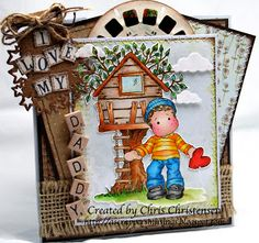 A Scrappers Musings: Edwin with Stolen Heart - Magnolia-licious/Wee Stamps Challenge
