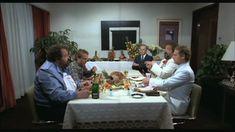 Terence Hill-lel és Harold Bergmannal a Nincs kettő négy nélkül című filmben, kettős szerepben