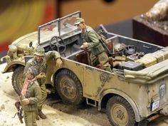 Altered Tins, Altered Art, Tin Can Lanterns, North African Campaign, Afrika Korps, Plastic Model Cars, Steyr, Military Modelling, Barbie House