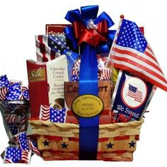 Art of Appreciation Gift Baskets America the Beautiful Patriotic Snacks and Treats of July Baskets. of July Basket basket basket Cookie Gift Baskets, Gourmet Gift Baskets, Cookie Gifts, Candy Gifts, Gag Gifts, Fathers Day Gift Basket, Basket Gift, Gourmet Candy, Auction Baskets