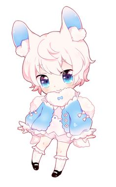 Chibi Commission for charmsu ©Artwork-myaoh ©Characters-charmsu Terms Of Service Commission