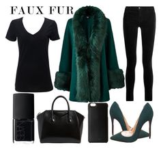 """faux fur"" by j-n-a ❤ liked on Polyvore featuring J Brand, Givenchy, Christian Louboutin, NARS Cosmetics and Knomo"
