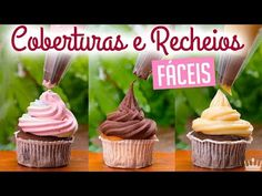 Cupcake Frosting, Cupcake Cookies, Mini Cupcakes, Ganache, Relleno, Nutella, Icing, Muffins, Bakery