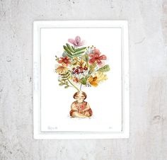 Imprimé Printemps  illustration art giclée  par MathildeCinqMars