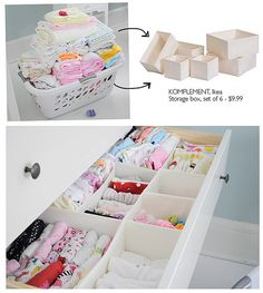 Never thought about folding and vertically stacking clothes... but it's actually really easy, uses the space better and gives also better oversight of what's in the drawer!