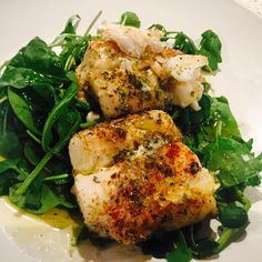 Ready for some quick homemade cooking? Here is my grilled cod on baby spinach