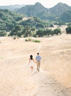 Malibu Creek State Park, California, Engagement Pictures Photography: When He Found Her - www.whenhefoundher.com Read More: http://www.stylemepretty.com/california-weddings/2014/10/03/romantic-santa-monica-engagement-session/