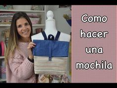 - TUTORIAL- COMO HACER UNA MOCHILA ( patrones gratis) - YouTube Mochila Tutorial, Pouch Tutorial, Diy Clothes Bag, Couture Sewing, Quilting For Beginners, Patchwork Bags, Fabric Bags, Cloth Bags, Free Sewing