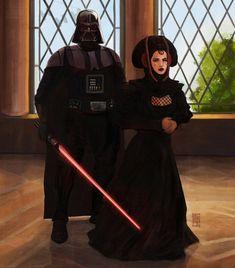 Anakin Vader, Anakin And Padme, Anakin Skywalker, Darth Vader, Star Wars Padme, Vader Star Wars, Star Wars Planets, Star Wars Ships, Star Wars Concept Art
