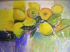 LEMONE....im Garten der Provence..diesesmal ein ACRYL-Gemälde in der Größe 100x70cm.... von..-Kunst-Maler..-Thomas Mühlbauer