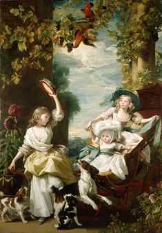 1785 John Singleton Copley - The Three Youngest... | History of fashion in art & photo