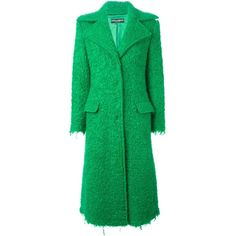 Dolce & Gabbana single breasted coat (54 635 UAH) ❤ liked on Polyvore featuring outerwear, coats, green, dolce gabbana coat, green coat, long green coat, long sleeve coat y dolce&gabbana