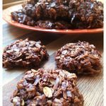 No-Bake Chocolate Coconut Drop Cookies to try using GF rolled oats